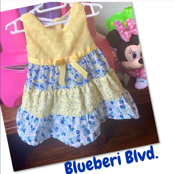 Blueberi Boulevard Other - 🦋2 for $15🦋Blueberi Blvd. yellow&blue dress 12M